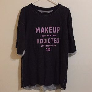 Pullover by ud with printed message
